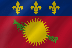 Flag of Guadeloupe - Wave