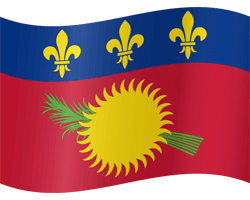 Flag of Guadeloupe - Waving