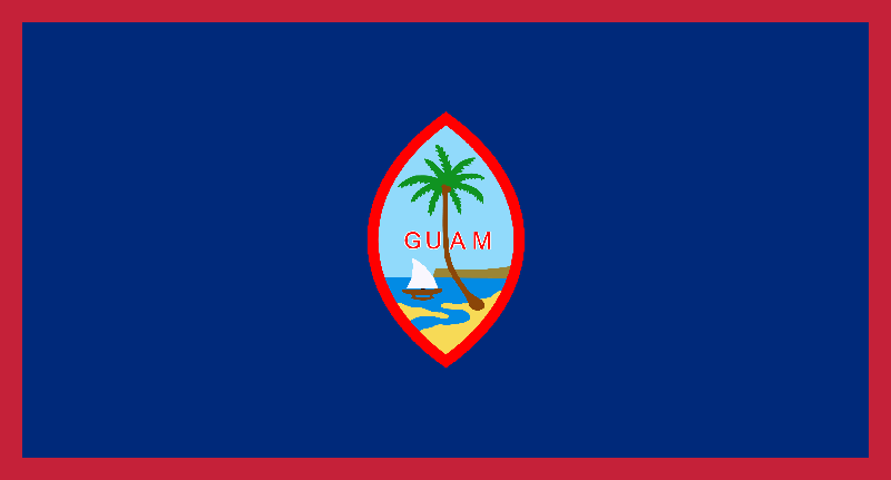 Guam flag package