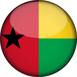 Flag of Guinea-Bissau - 3D Round