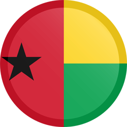 Flag of Guinea-Bissau - Button Round