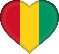 Guinea flag vector - free download