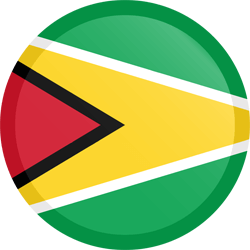 Flag of Guyana - Button Round