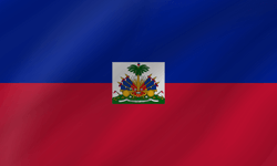Drapeau d'Haïti - Vague