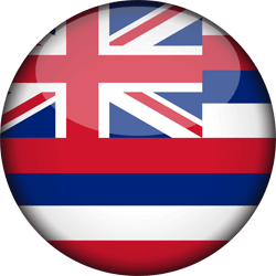 Flag of Hawaii - 3D Round