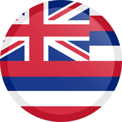 Flag of Hawaii - Button Round
