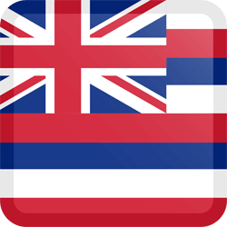Flag of Hawaii - Button Square