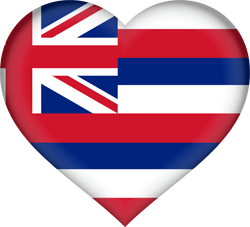 Flag of Hawaii - Heart 3D