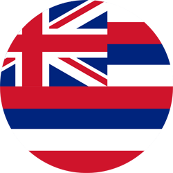 Drapeau d'Hawaii - Rond