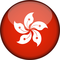 Flag of Hong Kong - 3D Round