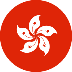 Flag of Hong Kong - Round