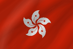 Drapeau de Hong Kong - Vague