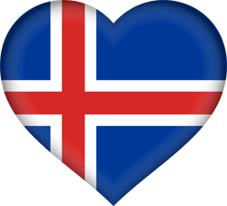 Iceland flag vector - free download