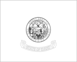 Idaho flag coloring page - free download