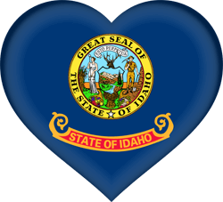 Flag of Idaho - Heart 3D