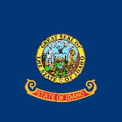 Idaho vlag vector