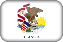 Flag of Illinois - 3D