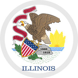 Flag of Illinois - Button Round
