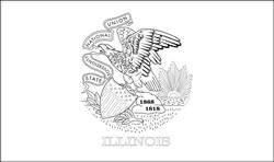 Vlag van Illinois - A4