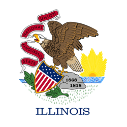 Flag of Illinois - Round