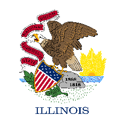 Illinois flag vector