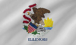Vlag van Illinois - Golf