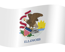Flag of Illinois - Waving