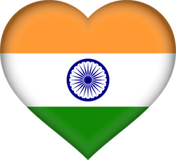 Flag of India - Heart 3D
