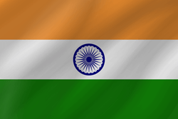 Drapeau de l'Inde - Vague