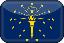 Flag of Indiana - 3D