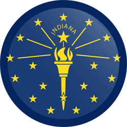 Flag of Indiana - Button Round