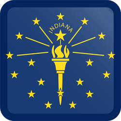 Flag of Indiana - Button Square