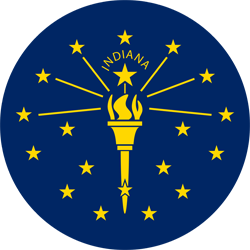 Flag of Indiana - Round