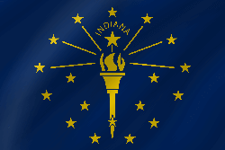 Flag of Indiana - Wave