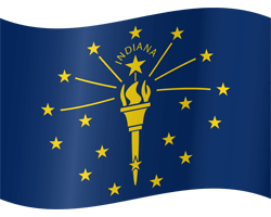 Flag of Indiana - Waving