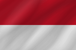 Flagge von Indonesien - Welle