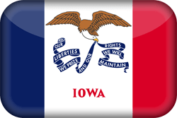 Iowa flag vector - free download