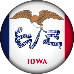 Flag of Iowa - 3D Round