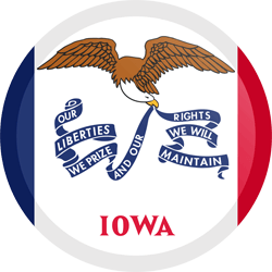 Flag of Iowa - Button Round