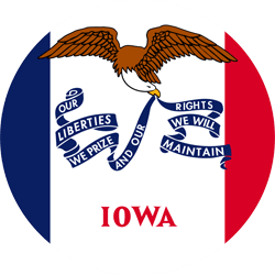 Flag of Iowa - Round