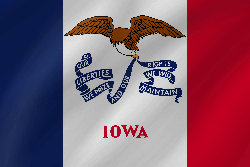 Drapeau de l'Iowa - Vague