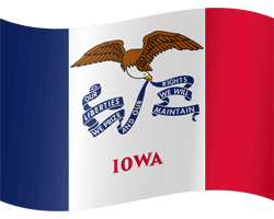 Flag of Iowa - Waving