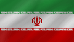Drapeau de l'Iran - Vague