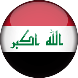Flag of Iraq - 3D Round