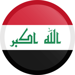 Flag of Iraq - Button Round