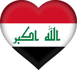 Flag of Iraq - Heart 3D