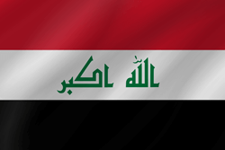 Drapeau de l'Iraq - Vague