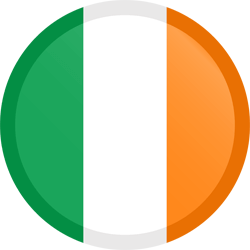 Flag of Ireland - Button Round