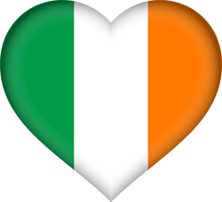 Flag of Ireland - Heart 3D