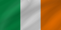 Drapeau de l'Irlande - Vague